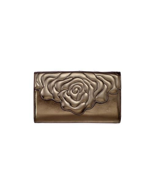 Aristotle rose bag - clutch black metal