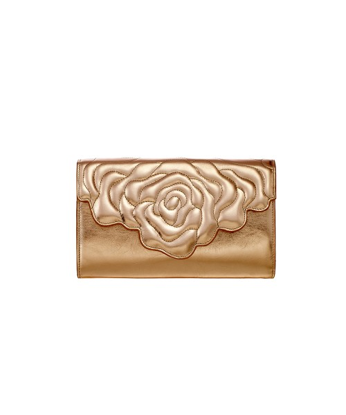 Aristotle rose bag - clutch black pink gold