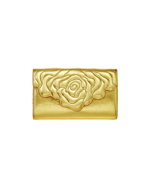 Aristotle rose bag - clutch yellow gold