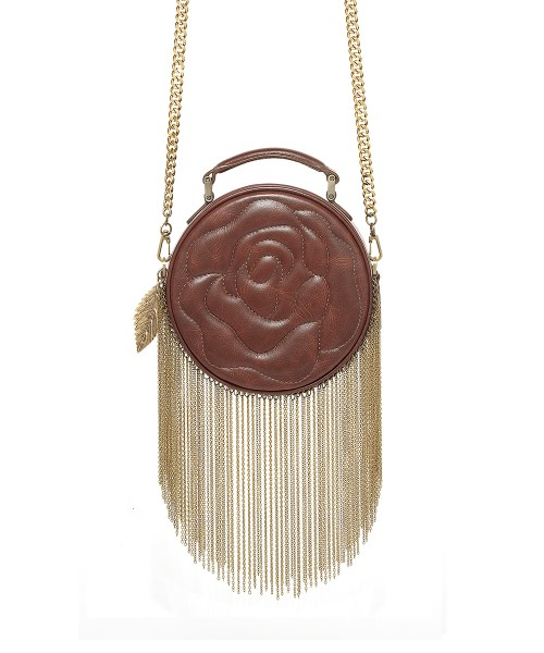 aristotle rose bag - fringie - Oak Brown1