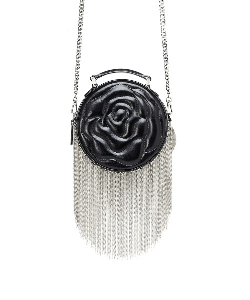 aristotle rose bag - fringie - black gloss1