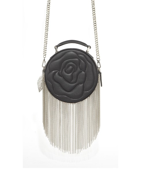 aristotle rose bag - fringie - black matte1