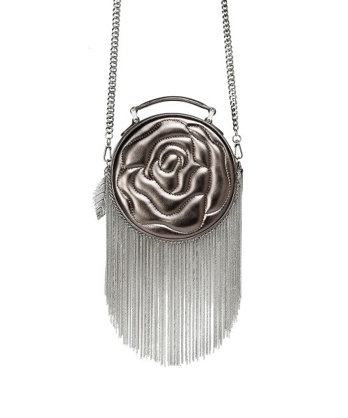 aristotle rose bag - fringie -black metal1