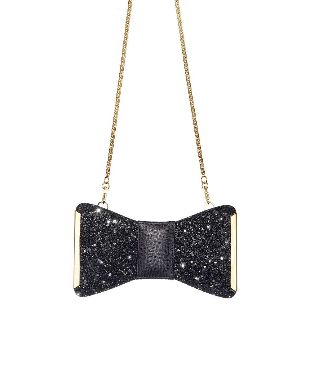 Aristotle Bow Bag Glitter - Black1