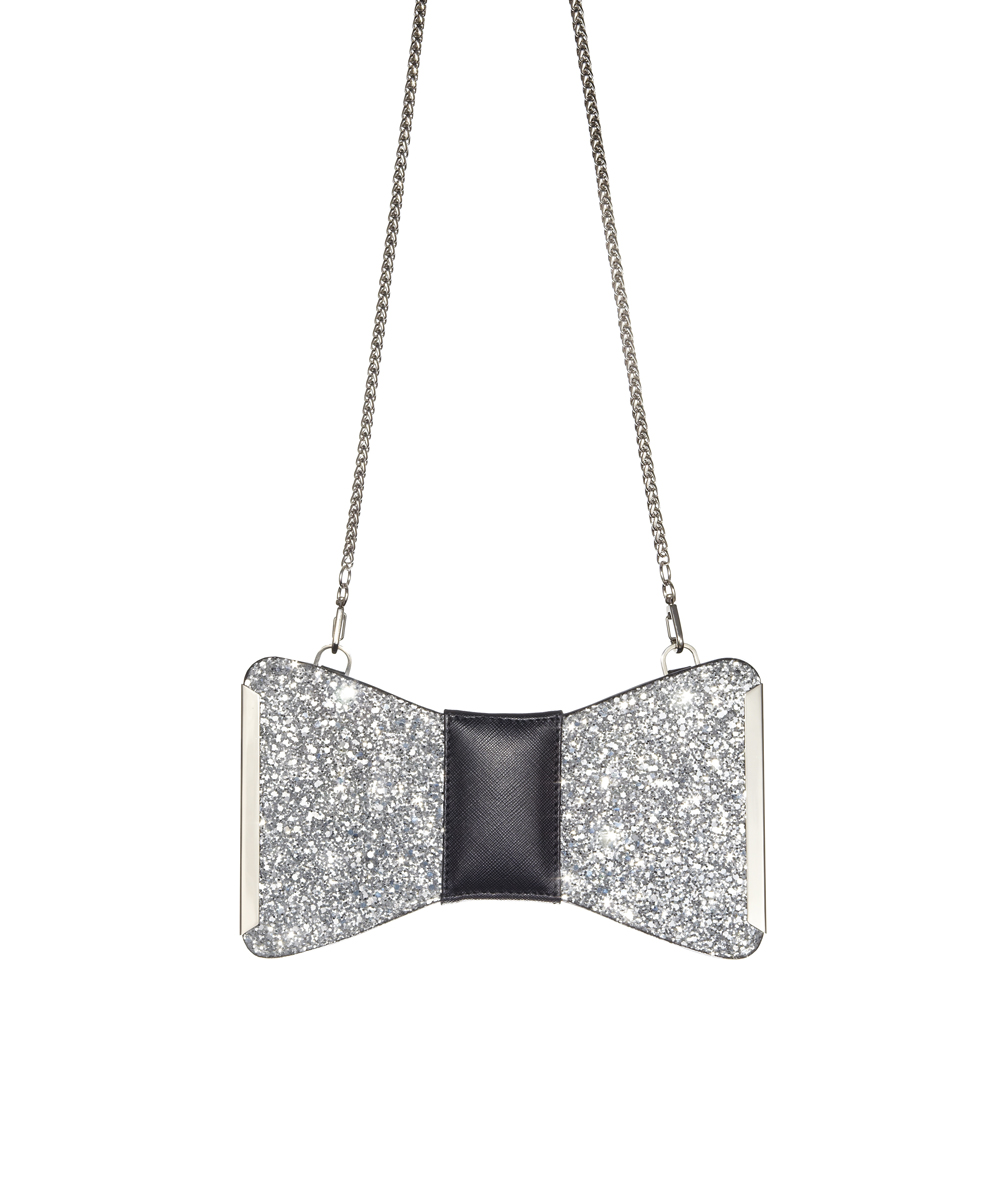Aristotle-Bow-Bag-Glitter-Silver1