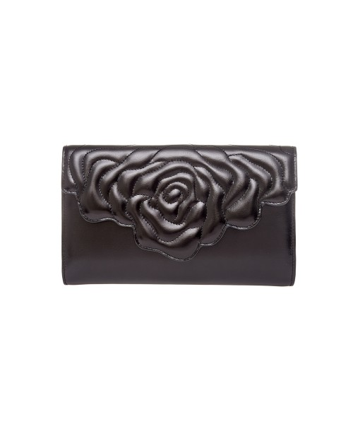 aristotle rose bag - clutch - black