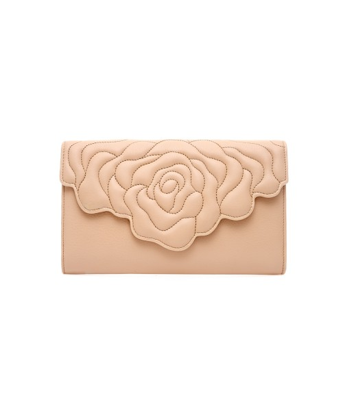 aristotle rose bag - clutch - nude