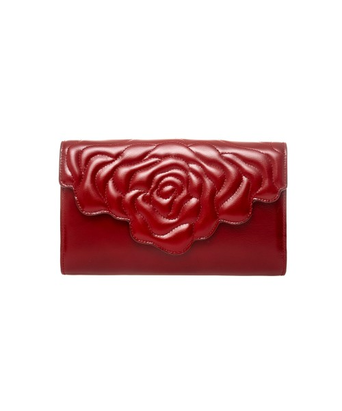 aristotle rose bag - clutch - red